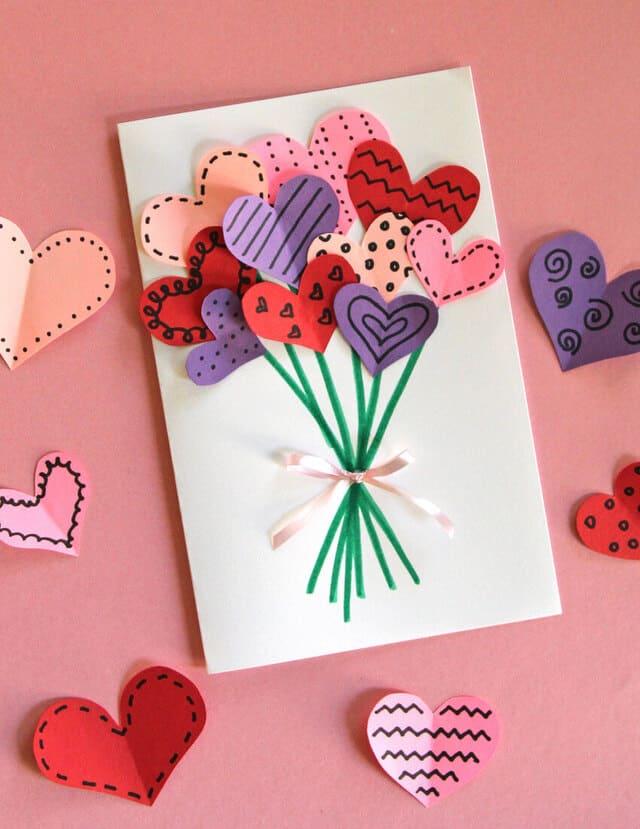 thiệp tự làm đồ handmade valentine