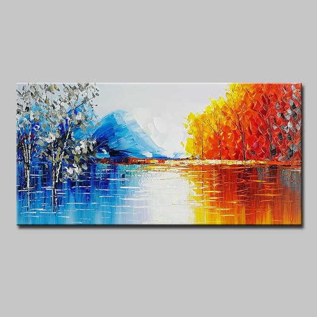 Tranh nghệ thuật sơn dầu với sự kết hợp màu sắc hài hòa