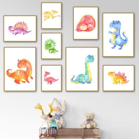 Tranh treo tường cho trẻ em về hoạt hình đáng yêu