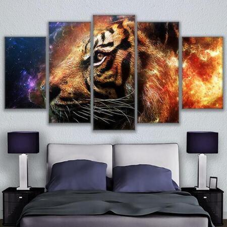 Không nên để những bức tranh có hình thú hung dữ trong phòng ngủ