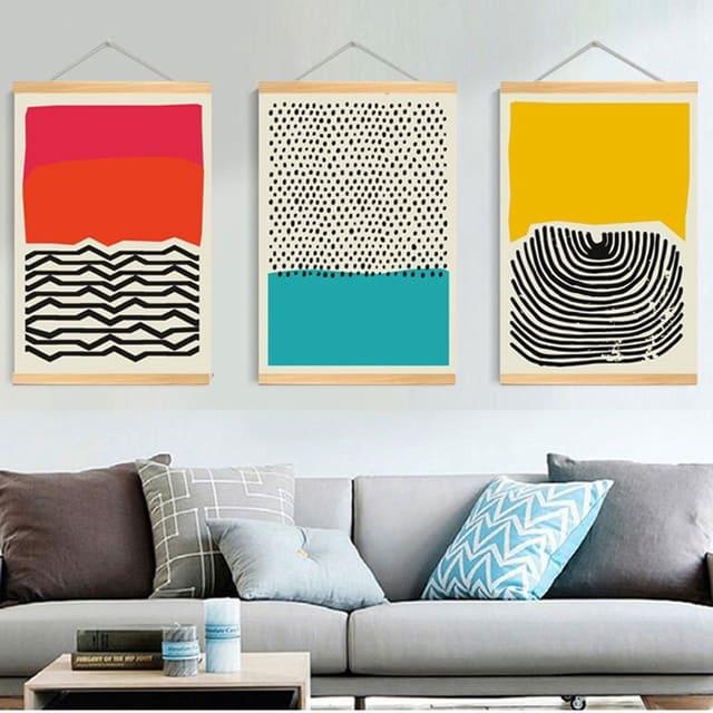 Tranh treo tường trừu tượng đầy tính sáng tạo