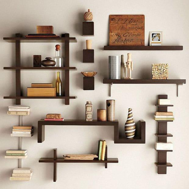 Kệ gỗ đơn giản, hiện đại trang trí Tết