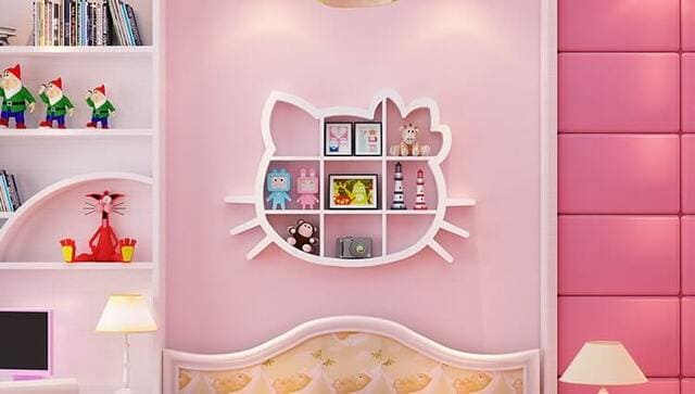Kệ kiểu Hello Kitty đầy độc đáo và bắt mắt phù hợp thiết kế căn phòng