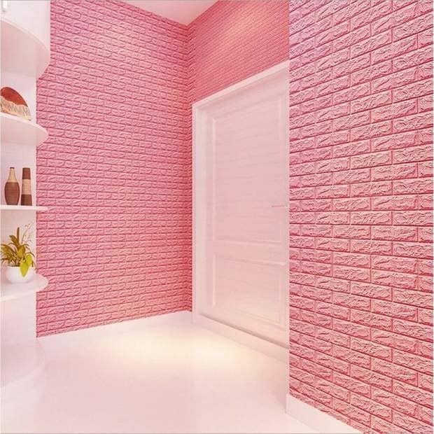 Trang trí tường bằng ốp tường giả gạch