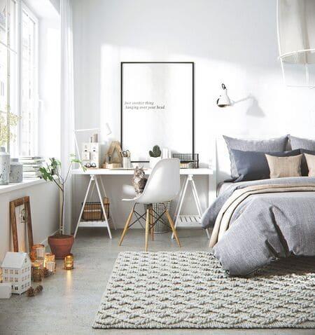 Ánh sáng tràn ngập khiến phòng vô cùng ngủ dễ chịu, thoải mái