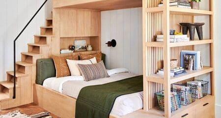 Với chiếc giường đa năng thông minh trông căn phòng gọn gàng ngăn nắp hơn bao giờ hết