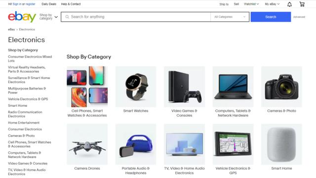 Đồ điện tử cũng là một mặt hàng bán chạy trên Ebay