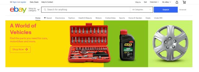 Ebay là một trong những trang thương mại điện tử uy tín và nổi tiếng trên thế giới